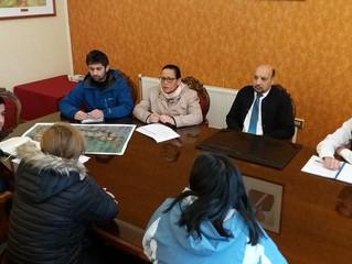 Alcalde  y funcionarios del municipio se reúnen con vecinos de la población Francisco Aguirre