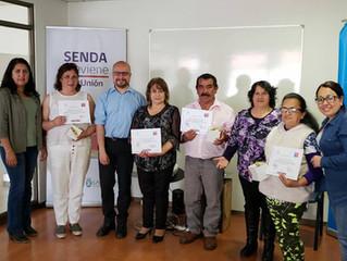 Programa SENDA-Previene Realiza Certificación de Portafolio de Competencias para la Inclusión socioc