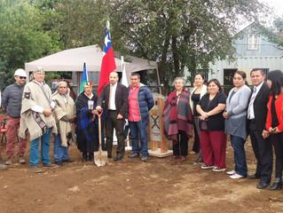 Autoridades comunales y representantes del mundo indígena ponen primera piedra de Ruka Social