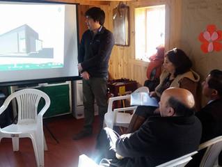 Reunión con vecinos de Cumulelfu quienes serán partícipe en la elección de un nuevo proyecto