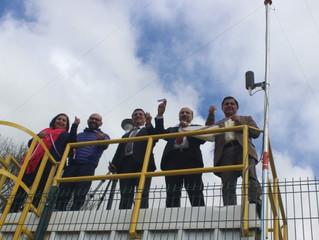 Alcalde Pinuer, intendente y seremi de Medio Ambiente inauguran primera Estación de Monitoreo del Ai
