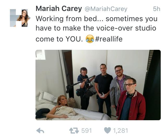 Mariah Carey with NY Sound Mixer