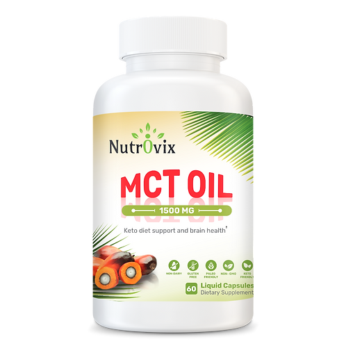 MCT Oil 1,500mg Healthy Source of Fatty Acids
