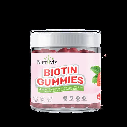 Strawberry Biotin Gummies 2,500 Mcg for Overall Wellness