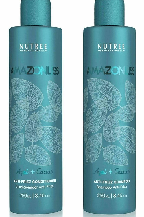 Amazonliss After Care Anti Frizz Shampoo and Conditioner Set 8.45 fl.oz