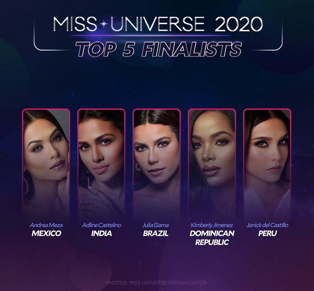 Miss Universe 2020 Top 5 Finalists