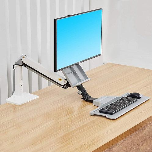 North Bayou Sit Stand Desk Height Adjustable Standing Desk Workstation FC40