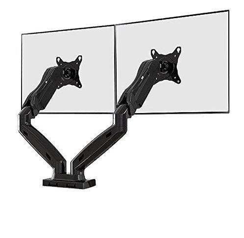 NB Flexi Full Motion Articulating Gas Spring Dual Display Desk Mount F160