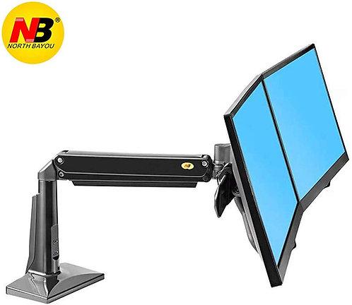 North Bayou Dual Monitor Desk Mount Full Motion Swivel Monitor F27