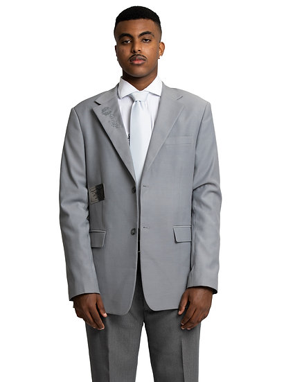 Merhawi's Grey Two Piece Suit
