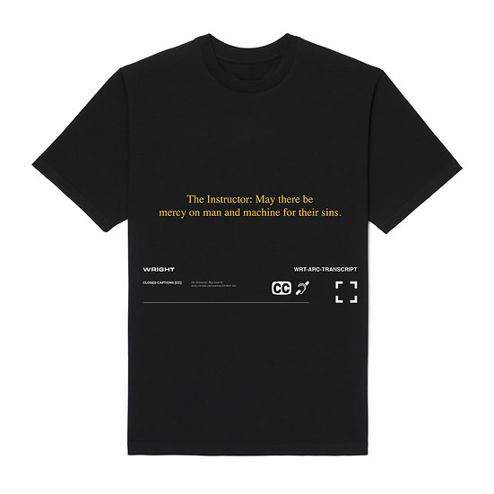 """""""MAY THERE BE MERCY ON MAN"""" T-SHIRT BLACK"""