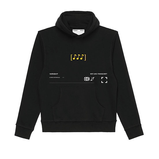 """♪♪♪"" HOODED SWEATSHIRT BLACK"