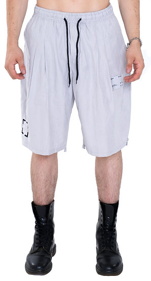 GLYPH LIGHT-WEIGHT WASHED SHORTS GREY