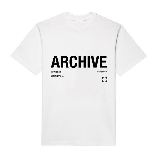 """ARCHIVE"" T-SHIRT WHITE"