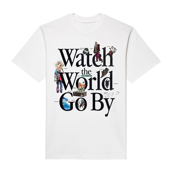 WATCH THE WORLD GO BY T-SHIRT WHITE