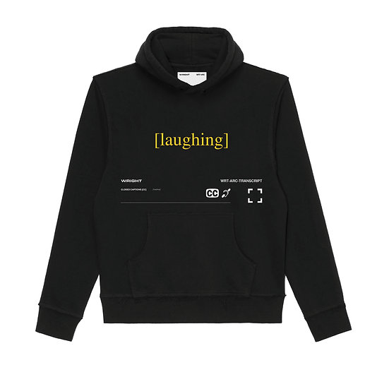 """LAUGHING"" HOODED SWEATSHIRT BLACK"