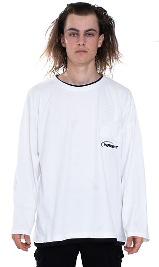 MANUFACTURING LONG SLEEVES T-SHIRT WHITE