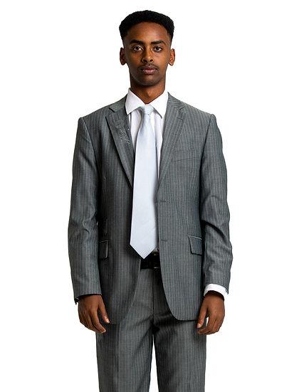 Milkias' Grey Two Piece Suit