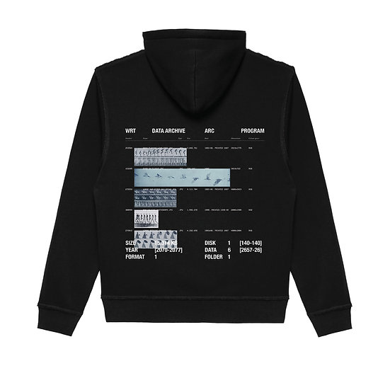 DATA ARCHIVE HOODED SWEATSHIRT BLACK