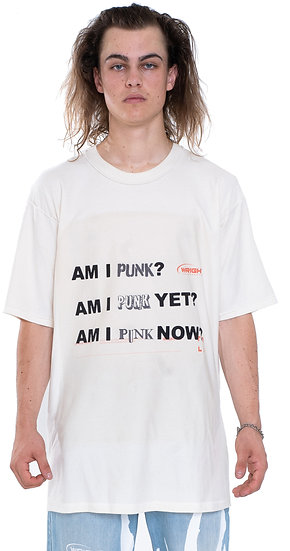 'IS THIS PUNK?' T-SHIRT BEIGE