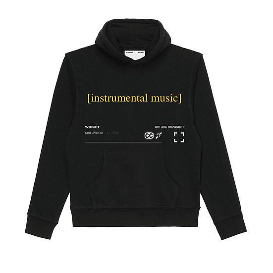 """INSTRUMENTAL MUSIC"" HOODED SWEATSHIRT BLACK"