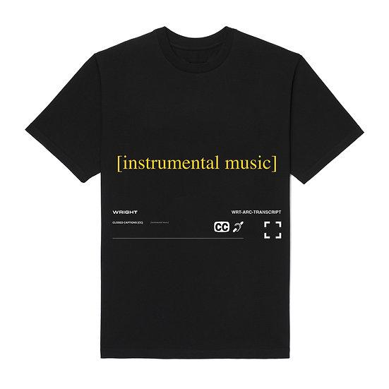 """INSTRUMENTAL MUSIC"" T-SHIRT BLACK"