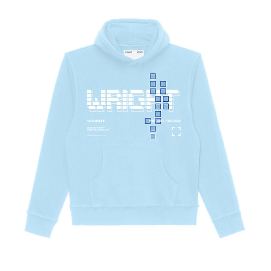 BLOCKCHAIN HOODED SWEATSHIRT BLUE