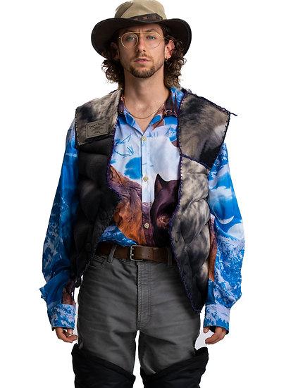 Reversible Animal Print Puffer Vest