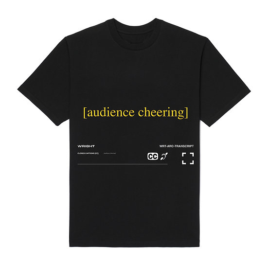 """AUDIENCE CHEERING"" T-SHIRT BLACK"