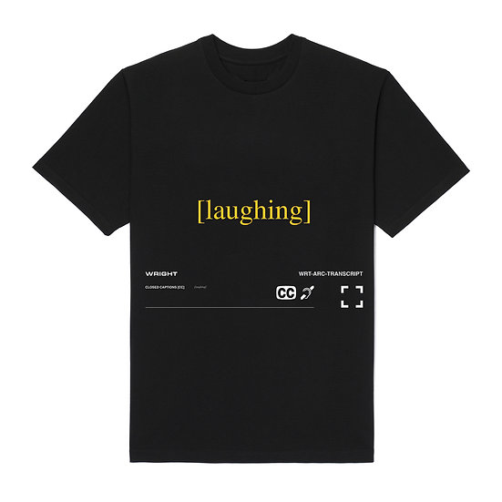 """LAUGHING"" T-SHIRT BLACK"