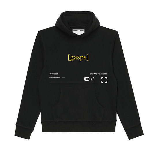 """GASPS"" HOODED SWEATSHIRT BLACK"