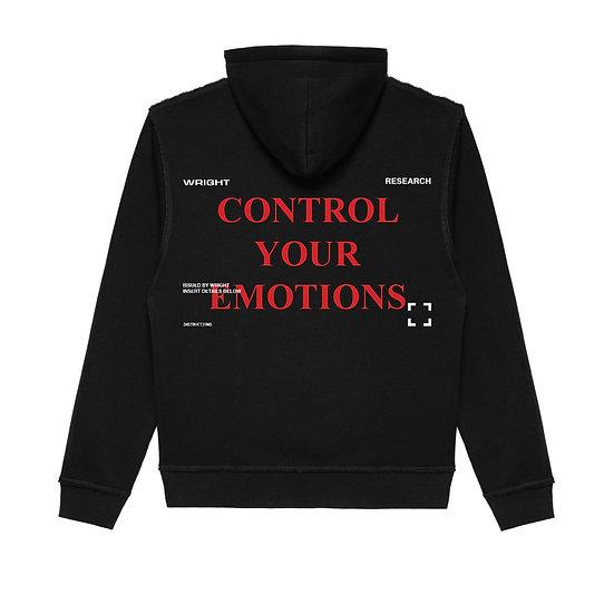 """CONTROL YOUR EMOTIONS"" HOODED SWEATSHIRT BLACK"