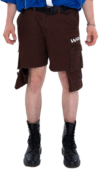 EXTENDED POCKET CARGO SHORTS BROWN