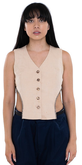 'THE DEVIL WEARS WRIGHT' VEST BEIGE