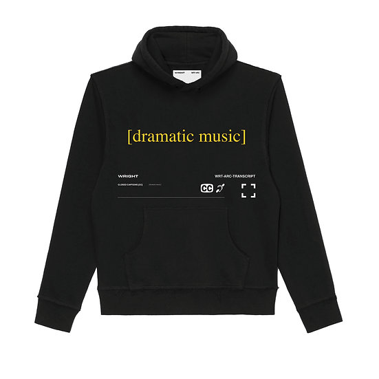 """DRAMATIC MUSIC"" HOODED SWEATSHIRT BLACK"