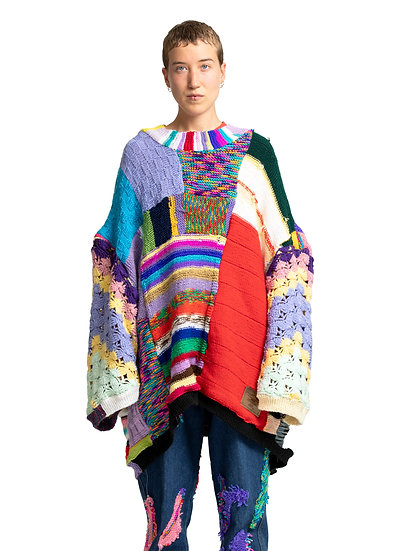 Multicolour Hand-Knitted Sweater