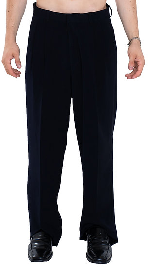 ASYMMETRICAL REVERSE DRESS PANTS NAVY