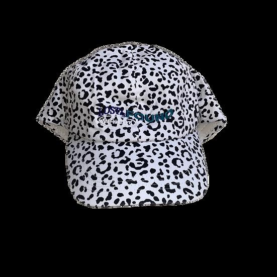 COW PRINT CAP WHITE
