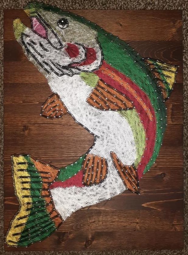 12x16 Rainbow Trout