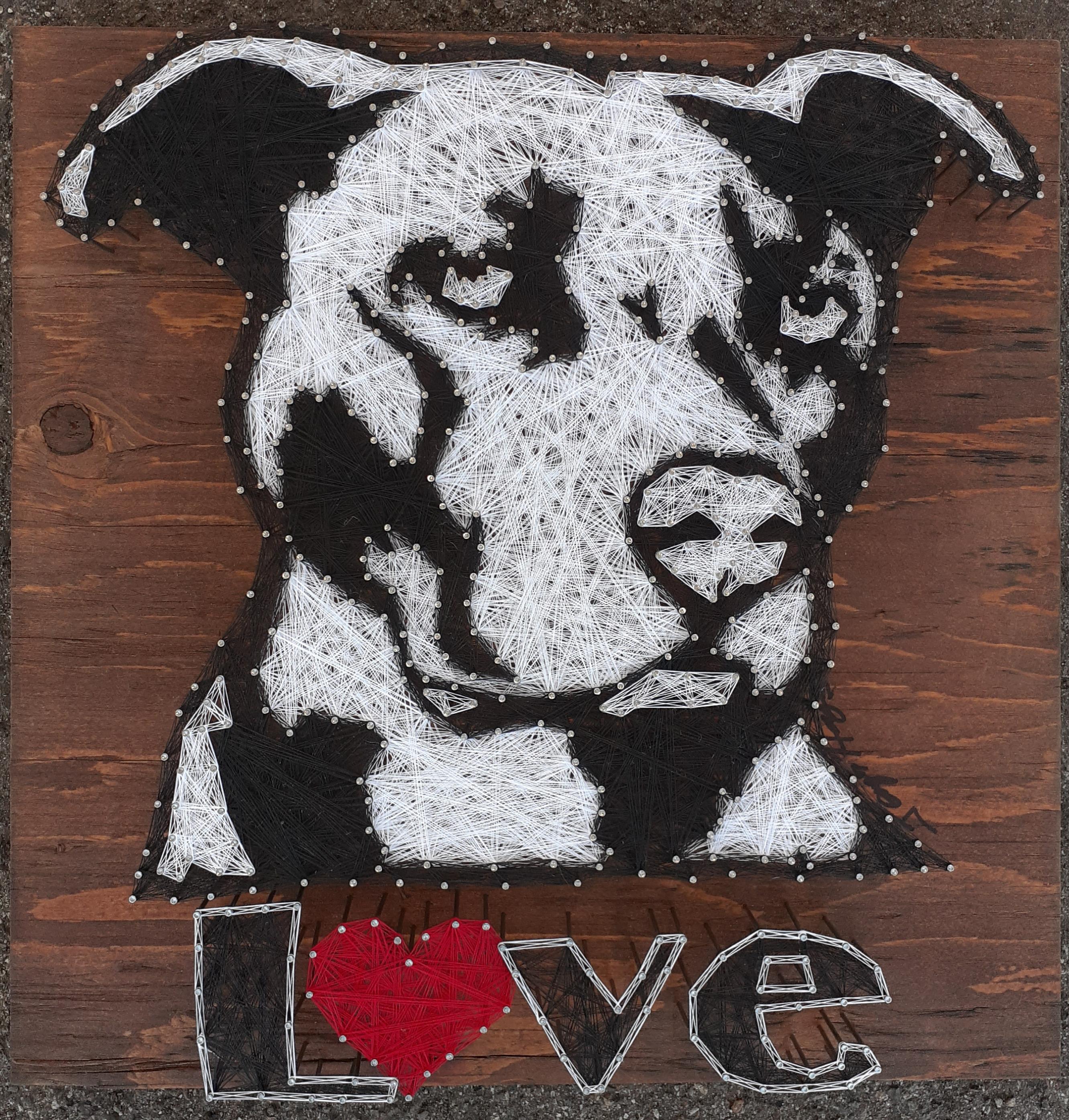 16x16 Pittie Love
