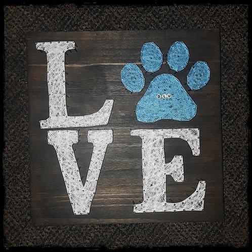 """Love"" Dog Paw"