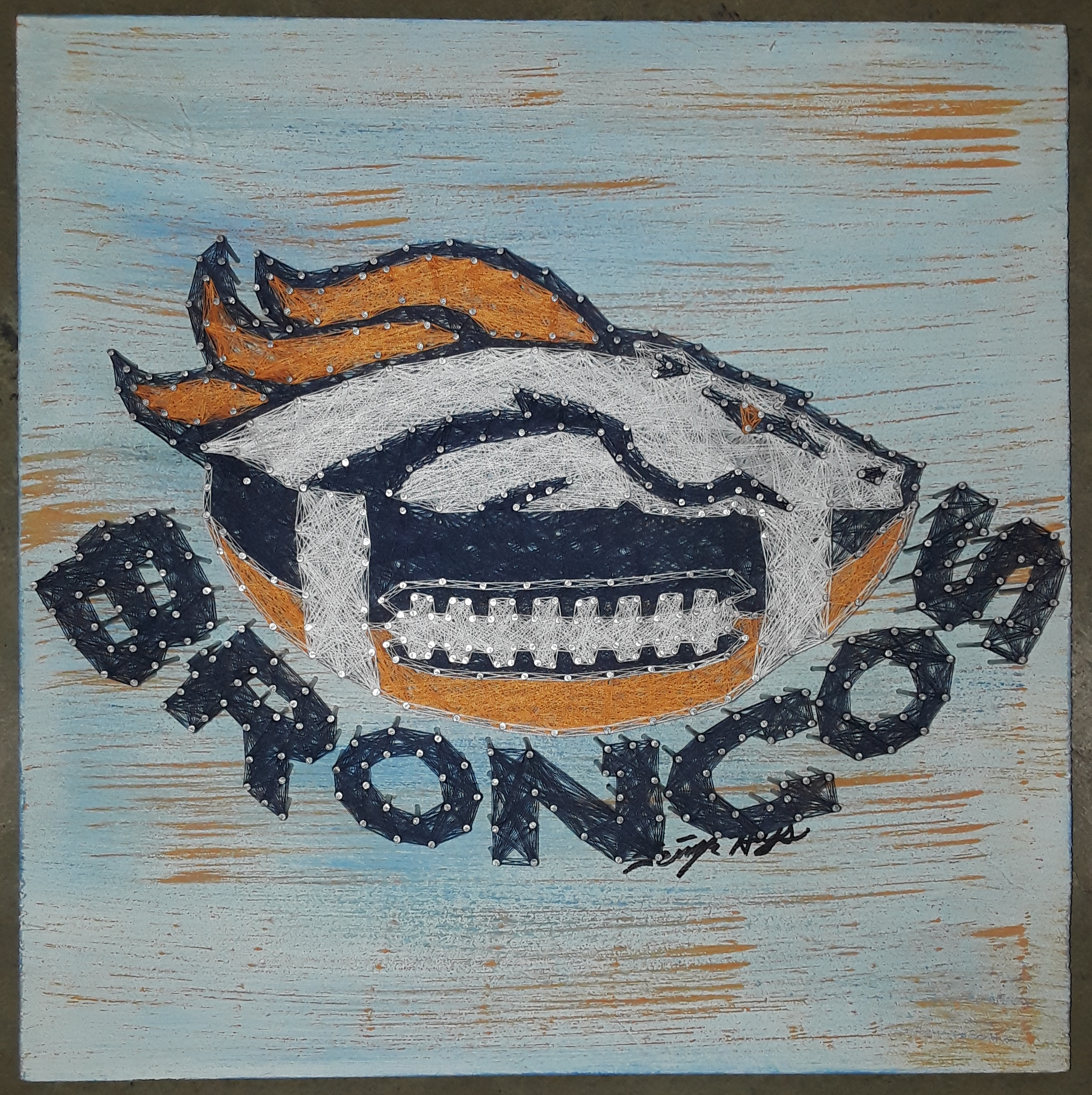 16x16 Broncos