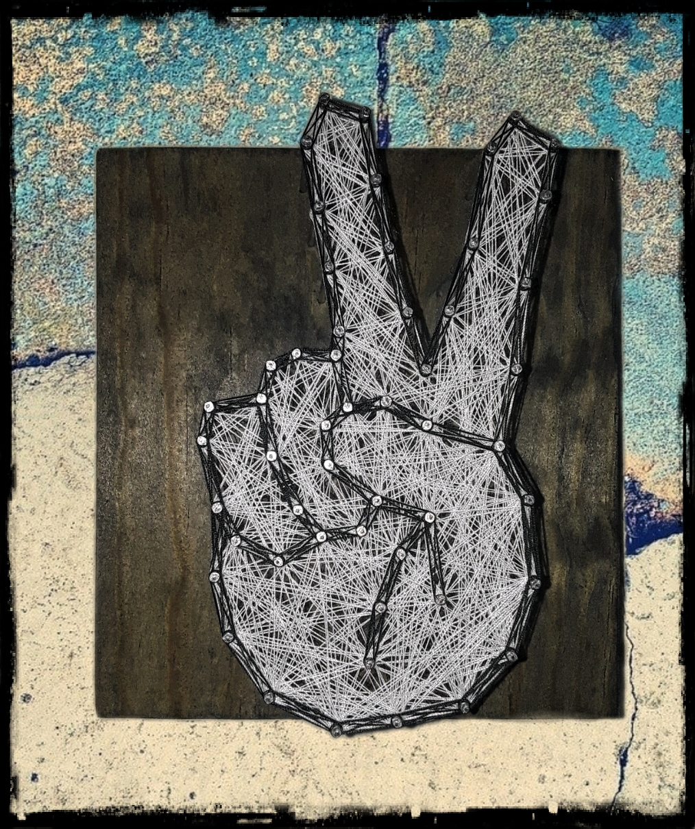 6x6 Peace sign
