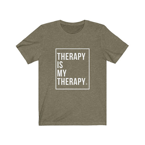 Therapy is My Therapy Unisex Jersey Short Sleeve Tee