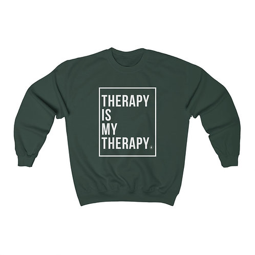 Therapy is My Therapy Unisex Heavy Blend™ Crewneck Sweatshirt