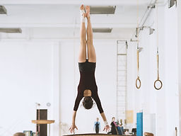 Gymnast Upside Down