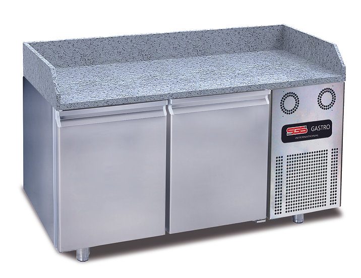 Pizzakühltische 2 Türen mit Granit / 155 cm / SGS-BZT155