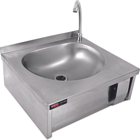 Handwaschbecken mit Kniebetätigung / inkl. Armatur und Schmutzfangblech
