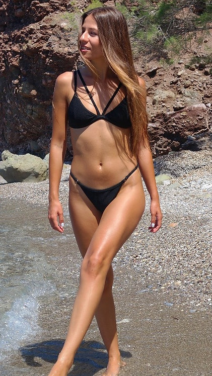 The Vertigo Rib bikini - black