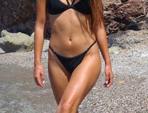 The Vertigo Rib bikini - black